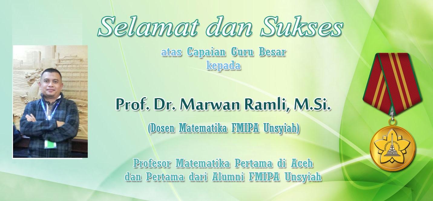 Selamat  untuk Profesor Marwan